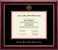 Austin Peay State University Diploma Frame - Gold Embossed Diploma Frame in Gallery