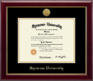 Syracuse University Diploma Frame - Gold Engraved Medallion Diploma Frame in Gallery