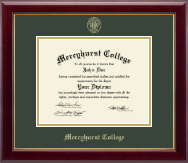Mercyhurst College Erie Diploma Frame - Gold Embossed Diploma Frame in Gallery