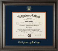 Gettysburg College Diploma Frame - Gold Embossed Diploma Frame in Acadia