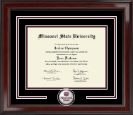 Missouri State University Diploma Frame - Spirit Medallion Diploma Frame in Encore