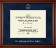 The University of Rhode Island Diploma Frame - Silver Embossed Diploma Frame in Cambridge