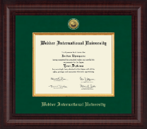 Webber International University Diploma Frame - Presidential Gold Engraved Diploma Frame in Premier