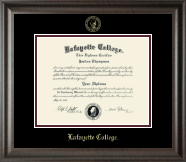 Lafayette College Diploma Frame - Gold Embossed Diploma Frame in Acadia