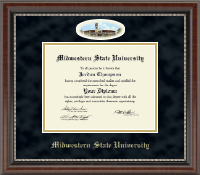 Midwestern State University Diploma Frame - Campus Cameo Diploma Frame in Chateau