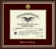 Boston College Diploma Frame - Gold Engraved Medallion Diploma Frame in Hampshire