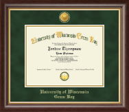 University of Wisconsin Green Bay Diploma Frame - 23K Medallion Diploma Frame in Hampshire
