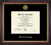 Dordt College Diploma Frame - Gold Engraved Medallion Diploma Frame in Regency Gold