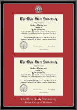 The Ohio State University Diploma Frame - Silver Engraved Double Diploma Frame in Onexa Silver