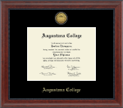 Augustana College Illinois Diploma Frame - Gold Engraved Diploma Frame in Signature