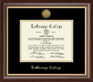 LaGrange College Diploma Frame - Gold Engraved Medallion Diploma Frame in Hampshire