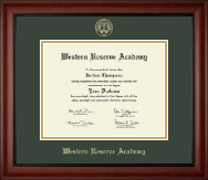 Western Reserve Academy Diploma Frame - Gold Embossed Diploma Frame in Cambridge