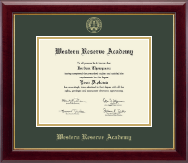Western Reserve Academy Diploma Frame - Gold Embossed Diploma Frame in Gallery