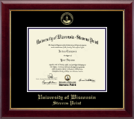 University of Wisconsin Stevens Point Diploma Frame - Gold Embossed Diploma Frame in Gallery