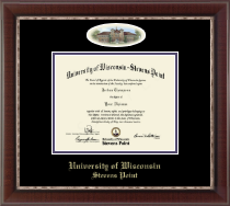 University of Wisconsin Stevens Point Diploma Frame - Campus Cameo Diploma Frame in Chateau