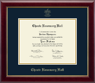 Choate Rosemary Hall Diploma Frame - Gold Embossed Diploma Frame in Gallery