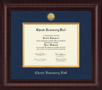 Choate Rosemary Hall Diploma Frame - Presidential Gold Engraved Diploma Frame in Premier