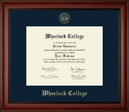 Wheelock College Diploma Frame - Gold Embossed Diploma Frame in Cambridge