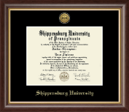 Shippensburg University Diploma Frame - Gold Engraved Medallion Diploma Frame in Hampshire