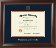 Syracuse University Diploma Frame - Gold Embossed Diploma Frame in Rainier