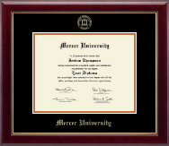 Mercer University Diploma Frame - Gold Embossed Diploma Frame in Gallery