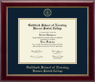 Goldfarb School of Nursing Barnes-Jewish College Diploma Frame - Gold Embossed Diploma Frame in Gallery