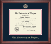 University of Dayton Diploma Frame - Antique Medallion Diploma Frame in Kensington Gold