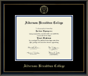 Gold Embossed Diploma Frame in Onexa Gold