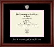 The University of New Mexico Diploma Frame - Pewter Medallion Diploma Frame in Cambridge