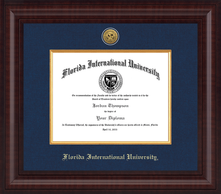 florida international university diploma frame presidential gold engraved diploma frame in premier