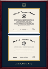 United States Navy Certificate Frame - Double Certificate Frame in Galleria