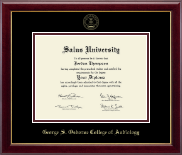 Salus University - George S. Osborne College of Audiology Diploma Frame - Gold Embossed Diploma Frame in Gallery