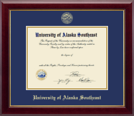 University of Alaska Southeast Diploma Frame - Gold Embossed Diploma Frame in Gallery
