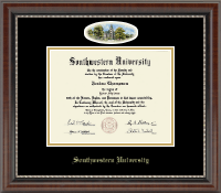 Southwestern University Diploma Frame - Campus Cameo Diploma Frame in Chateau