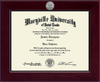 Maryville University of St. Louis Diploma Frame - Century Silver Engraved Diploma Frame in Cordova