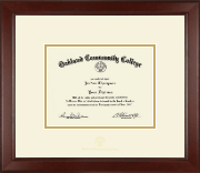 Oakland Community College Diploma Frame - Gold Embossed Diploma Frame in Sierra