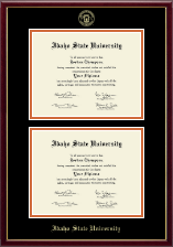 Idaho State University Diploma Frame - Double Diploma Frame in Galleria