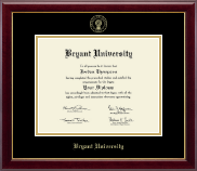 Bryant University Diploma Frame - Gold Embossed Diploma Frame in Gallery