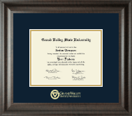 Grand Valley State University Diploma Frame - Gold Embossed Diploma Frame in Acadia