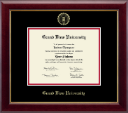 Grand View University Diploma Frame - Gold Embossed Diploma Frame in Gallery