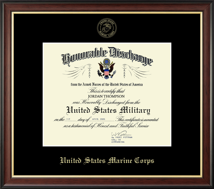 United States Marine Corps US Marines Honorable Discharge ...
