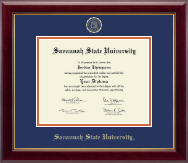 Savannah State University Diploma Frame - Gold Embossed Diploma Frame in Gallery
