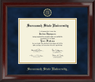 Savannah State University Diploma Frame - Gold Embossed Diploma Frame in Encore