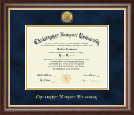 Christopher Newport University Diploma Frame - Gold Engraved Medallion Diploma Frame in Hampshire