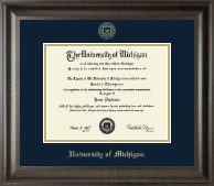 University of Michigan Diploma Frame - Gold Embossed Diploma Frame in Acadia