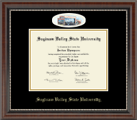Saginaw Valley State University Diploma Frame - Campus Cameo Diploma Frame in Chateau