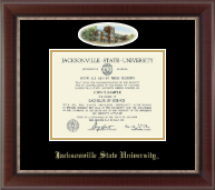 Jacksonville State University Diploma Frame - Pre-Dec 2015- Campus Cameo Diploma Frame in Chateau