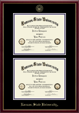 Kansas State University Diploma Frame - Double Diploma Frame in Galleria