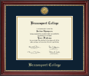 Brazosport College Diploma Frame - Gold Engraved Medallion Diploma Frame in Kensington Gold