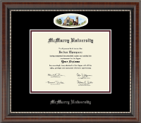 McMurry University Diploma Frame - Campus Cameo Diploma Frame in Chateau